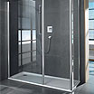 Contemporary walk in glass shower