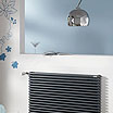 Contemporary chrome bathroom radiator